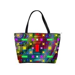 Art Rectangles Abstract Modern Art Shoulder Handbags