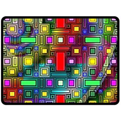 Art Rectangles Abstract Modern Art Fleece Blanket (Large)