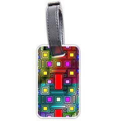 Art Rectangles Abstract Modern Art Luggage Tags (two Sides)