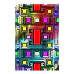 Art Rectangles Abstract Modern Art Shower Curtain 48  x 72  (Small)