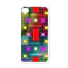 Art Rectangles Abstract Modern Art Apple iPhone 4 Case (White)