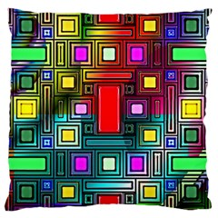 Art Rectangles Abstract Modern Art Large Cushion Case (Two Sides)