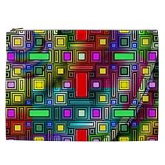 Art Rectangles Abstract Modern Art Cosmetic Bag (XXL)