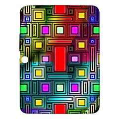 Art Rectangles Abstract Modern Art Samsung Galaxy Tab 3 (10.1 ) P5200 Hardshell Case