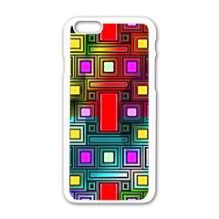 Art Rectangles Abstract Modern Art Apple Iphone 6/6s White Enamel Case