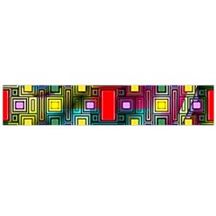 Art Rectangles Abstract Modern Art Flano Scarf (large)
