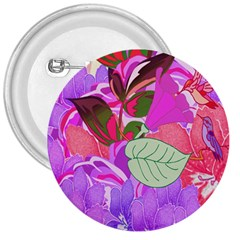 Abstract Flowers Digital Art 3  Buttons