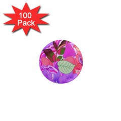Abstract Flowers Digital Art 1  Mini Magnets (100 pack)