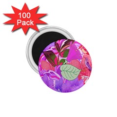 Abstract Flowers Digital Art 1 75  Magnets (100 Pack)