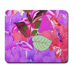 Abstract Flowers Digital Art Large Mousepads