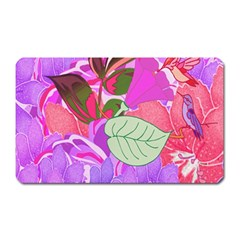 Abstract Flowers Digital Art Magnet (rectangular)
