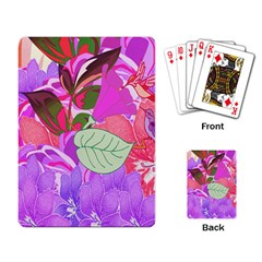 Abstract Flowers Digital Art Playing Card