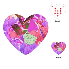 Abstract Flowers Digital Art Playing Cards (Heart)
