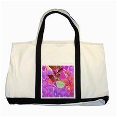 Abstract Flowers Digital Art Two Tone Tote Bag
