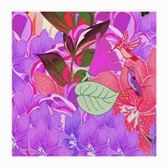 Abstract Flowers Digital Art Medium Glasses Cloth