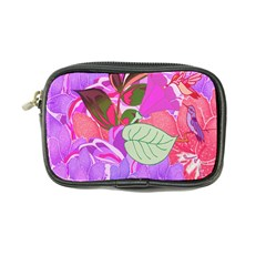 Abstract Flowers Digital Art Coin Purse