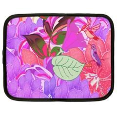 Abstract Flowers Digital Art Netbook Case (XL)