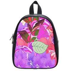 Abstract Flowers Digital Art School Bags (Small)