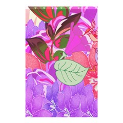Abstract Flowers Digital Art Shower Curtain 48  x 72  (Small)