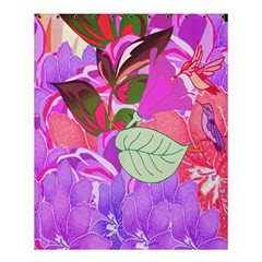 Abstract Flowers Digital Art Shower Curtain 60  x 72  (Medium)