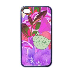 Abstract Flowers Digital Art Apple iPhone 4 Case (Black)