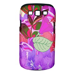 Abstract Flowers Digital Art Samsung Galaxy S III Classic Hardshell Case (PC+Silicone)