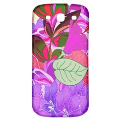 Abstract Flowers Digital Art Samsung Galaxy S3 S III Classic Hardshell Back Case