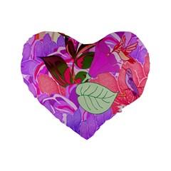 Abstract Flowers Digital Art Standard 16  Premium Heart Shape Cushions