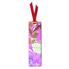 Abstract Flowers Digital Art Small Book Marks
