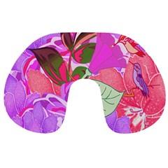 Abstract Flowers Digital Art Travel Neck Pillows