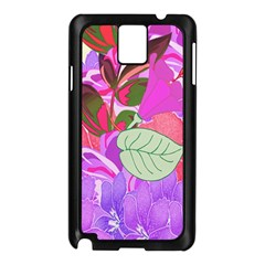 Abstract Flowers Digital Art Samsung Galaxy Note 3 N9005 Case (Black)