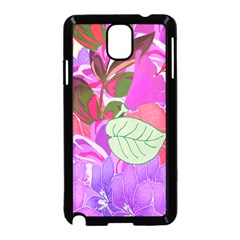 Abstract Flowers Digital Art Samsung Galaxy Note 3 Neo Hardshell Case (Black)