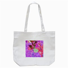 Abstract Flowers Digital Art Tote Bag (white)