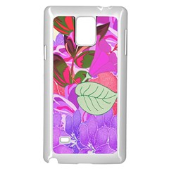Abstract Flowers Digital Art Samsung Galaxy Note 4 Case (White)