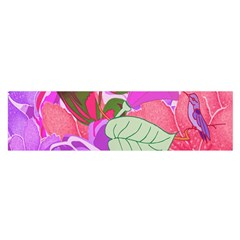 Abstract Flowers Digital Art Satin Scarf (oblong)