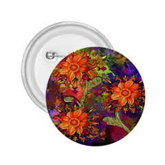 Abstract Flowers Floral Decorative 2.25  Buttons
