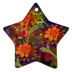 Abstract Flowers Floral Decorative Ornament (Star)