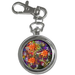 Abstract Flowers Floral Decorative Key Chain Watches