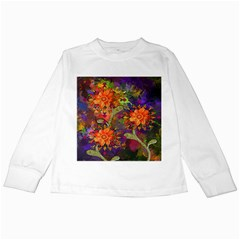 Abstract Flowers Floral Decorative Kids Long Sleeve T-Shirts