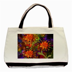Abstract Flowers Floral Decorative Basic Tote Bag
