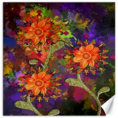 Abstract Flowers Floral Decorative Canvas 20  x 20
