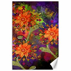 Abstract Flowers Floral Decorative Canvas 20  X 30