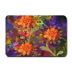 Abstract Flowers Floral Decorative Small Doormat