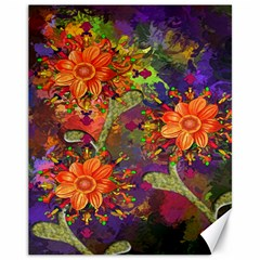 Abstract Flowers Floral Decorative Canvas 11  x 14