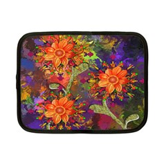 Abstract Flowers Floral Decorative Netbook Case (Small)