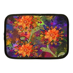 Abstract Flowers Floral Decorative Netbook Case (medium)