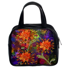 Abstract Flowers Floral Decorative Classic Handbags (2 Sides)
