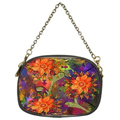 Abstract Flowers Floral Decorative Chain Purses (one Side)