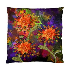 Abstract Flowers Floral Decorative Standard Cushion Case (Two Sides)