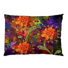 Abstract Flowers Floral Decorative Pillow Case